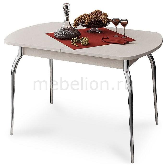 Стол обеденный Мебель Трия Милан хром/дуб белфорт стол обеденный мебель трия милан см 203 23 15