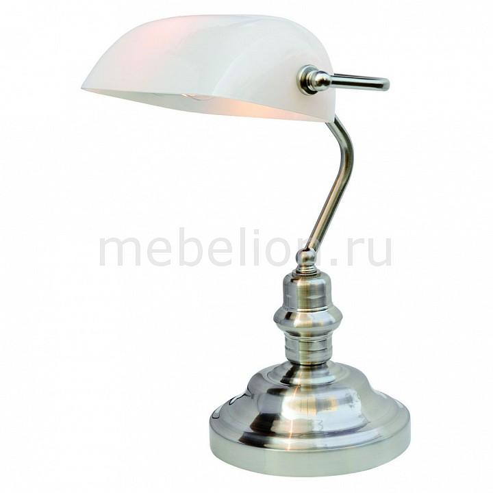 Настольная лампа Arte Lamp офисная Banker A2491LT-1SS arte lamp настольная лампа arte lamp a2491lt 1ss