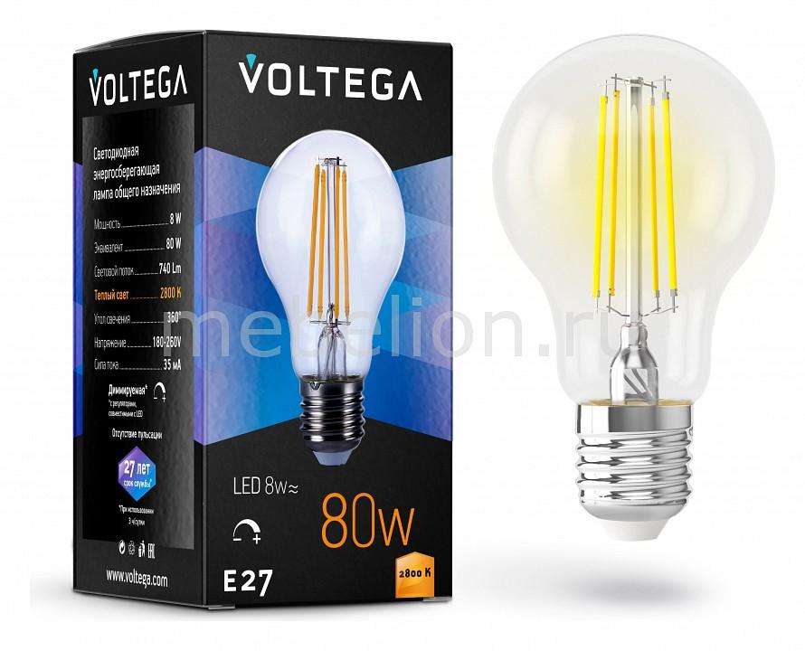 Лампа светодиодная Voltega General Purpose Bulb Е27 180В 8Вт 2800K VG10-А1E27warm8W-FD jtx 2c ac 220v dc24v coil general purpose relay 8 pin dpdt 10a