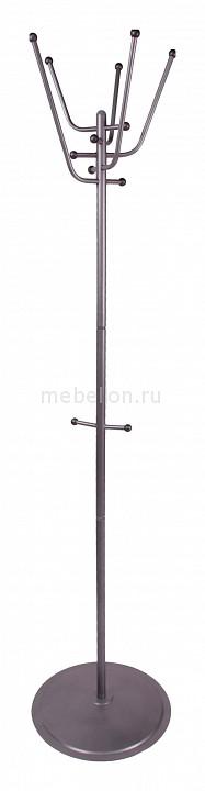 Вешалка напольная Мебелик Вешалка-стойка Пико 9 металлик цена и фото