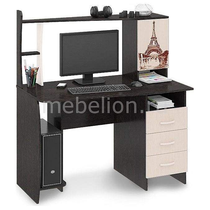 Стол компьютерный Мебель Трия Студент-Класс (М) венге цаво/дуб молочный с рисунком