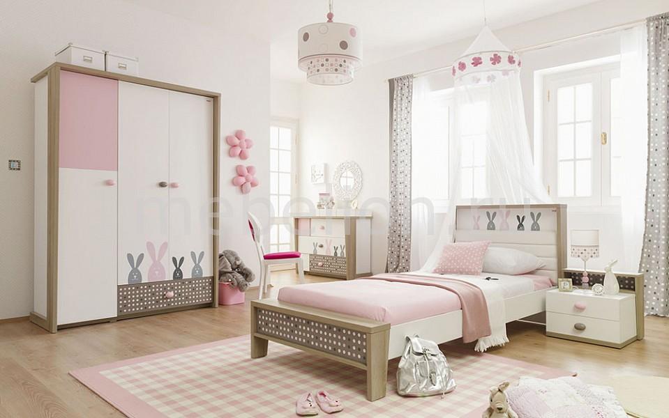 Гарнитур для детской Pink Bunny белый/коричневый/розовый