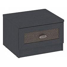 Мебель Трия Тумбочка Сакура ПМ-183.03.01 венге цаво/кожа Лара темная