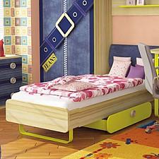 Кровать детская Джинс 507.090 сантана/джинс/желтый бриллиант