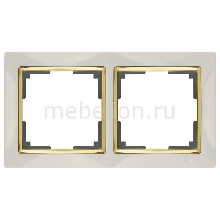 Рамка на 2 поста Werkel Snabb WL03-Frame-02-ivory-GD
