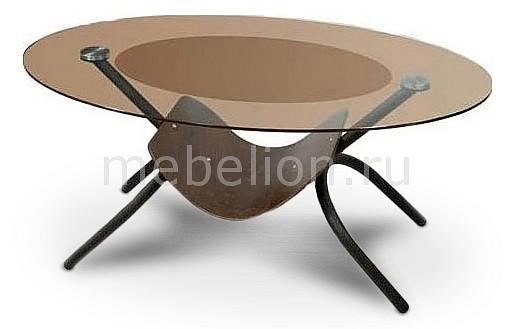 Стол журнальный Мебелик Дуэт 2 черный