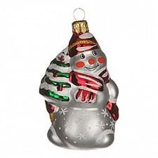 Елочная игрушка (8 см) Снеговик с ёлкой 860-492