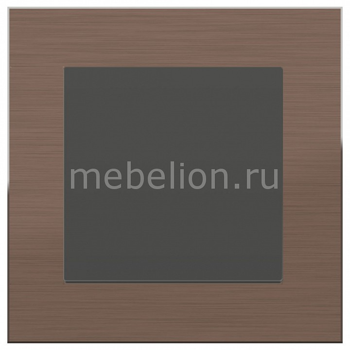 Выключатель перекрестной одноклавишный Werkel Aluminium (Серо-коричневый) WL07-SW-1G-2W+WL07-SW-1G-C  цена и фото