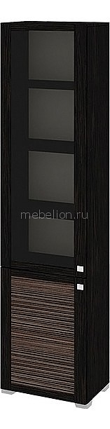 Шкаф-витрина Фиджи ШК(07)_32-21_17 венге цаво/каналы дуба