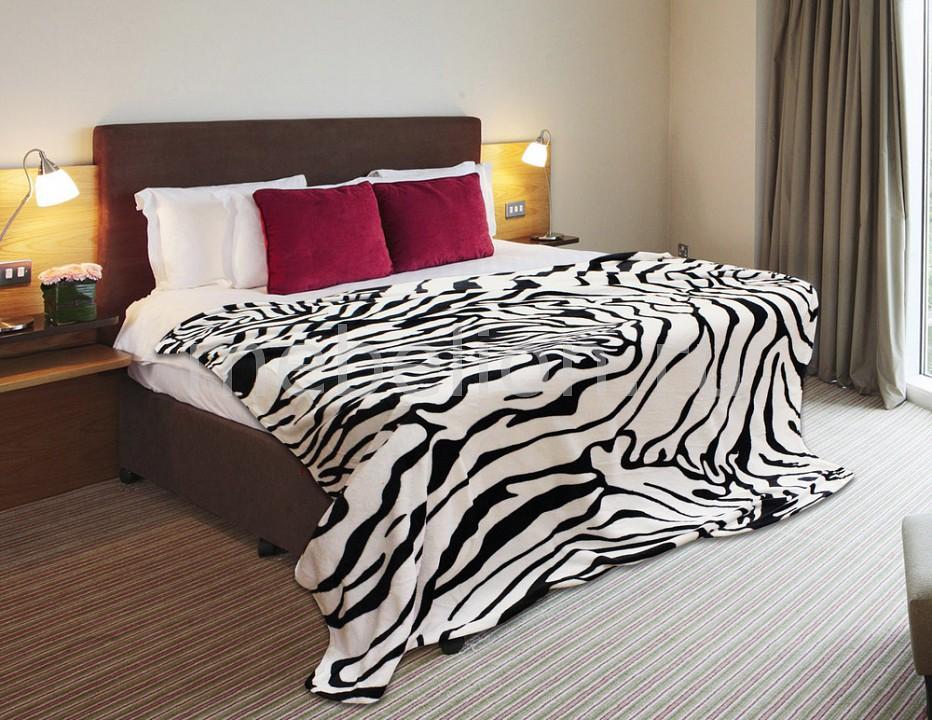 Плед (180х220 см) Шкура зебры