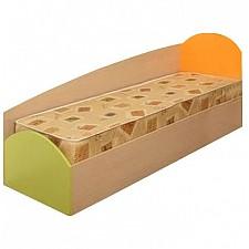 Кровать Тони-1 4200227 дуб линдберг/зеленое яблоко/оранжевый