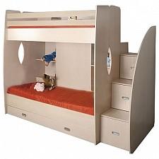 Кровать двухъярусная Д1 4489227 дуб линдберг