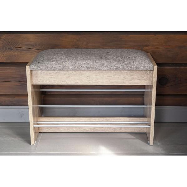 Банкетка-стекллаж для обуви Сокол