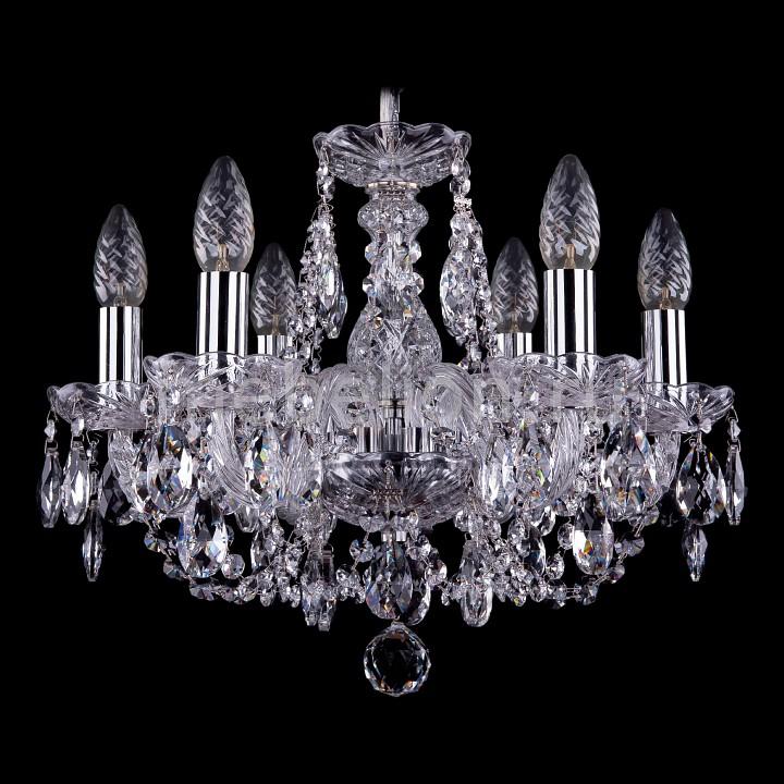 Подвесная люстра Bohemia Ivele Crystal 1406/6/141/Ni 1406