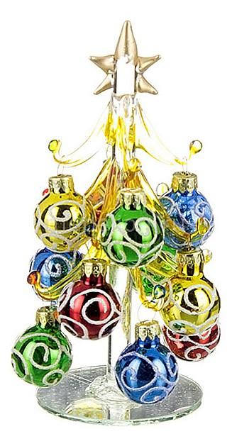 Ель новогодняя с елочными шарами АРТИ-М (14.5 см) ART 594-036 гирлянда новогодняя eurohouse цвет желтый красный зеленый длина 322 см