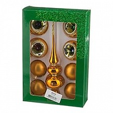 Елочный шар с верхушкой АРТИ-М Набор из 8 елочных шаров с верхушкой Плеяды 860-379