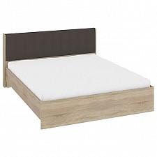 Кровать двуспальная Мебель Трия Ларго СМ-181.01.002 дуб сонома/какао текстиль