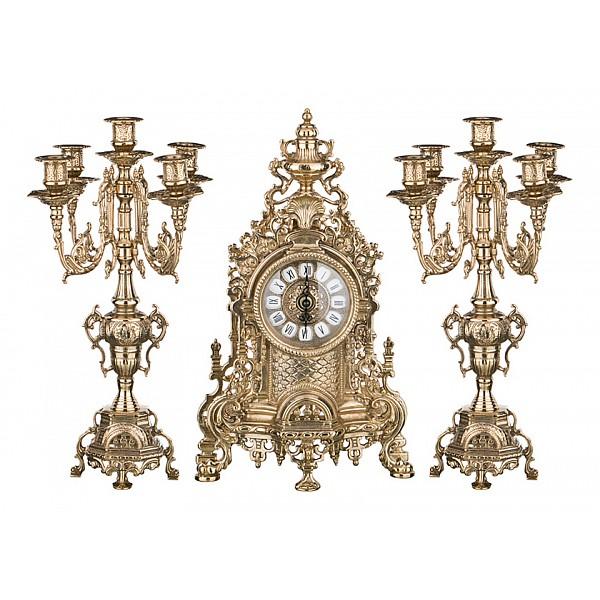 Настольные часы АРТИ-МНабор из часов и 2 подсвечников Art 333-097Артикул - art_333-097, Бренд - АРТИ-М (Россия), Страна производителя - Россия, Серия - Art 333, Время изготовления, дней - 1, Материал - латунь, Цвет - бронзовый, Тип поверхности - матовый, Компоненты, входящие в комплект - часы;2 подсвечника, Дополнительные параметры - высота подсвечников 41 см;высота часов 41 см<br><br>Артикул: art_333-097<br>Бренд: АРТИ-М (Россия)<br>Страна производителя: Россия<br>Серия: Art 333<br>Время изготовления, дней: 1<br>Материал: латунь<br>Цвет: бронзовый<br>Тип поверхности: матовый<br>Компоненты, входящие в комплект: часы;&lt;br&gt;2 подсвечника<br>Дополнительные параметры: высота подсвечников 41 см;&lt;br&gt;высота часов 41 см