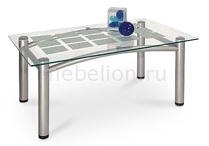 Стол журнальный Мебелик Робер 3М металлик