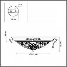Накладной светильник Odeon Light 2692/3C Bone