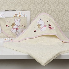 Полотенце детское Karna (90х90 см) BAMBINO-BUNNY