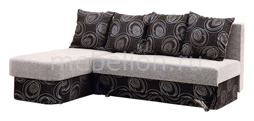 Диван-кровать Милан Fancy black/Lady in black
