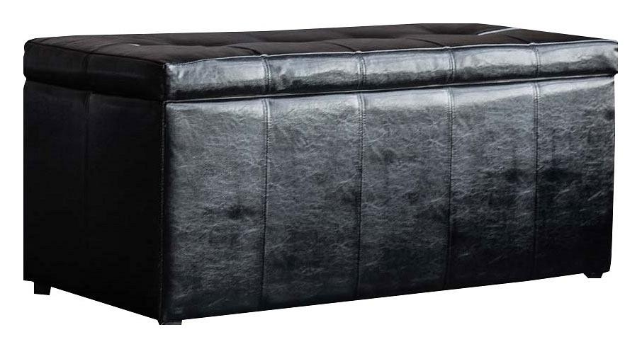 Банкетка-сундук Dreambag Лонг черная пуф dreambag лонг коричневая кожа