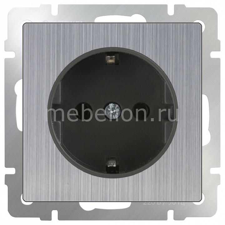 Купить Розетка с заземлением без рамки Глянцевый никель WL02-SKG-01-IP20, Werkel, Швеция
