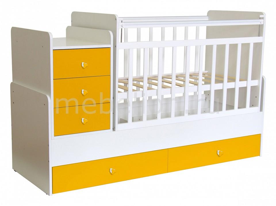 Кроватка-трансформер Фея Фея 1100 фея трансформер 1100 белая солнечная