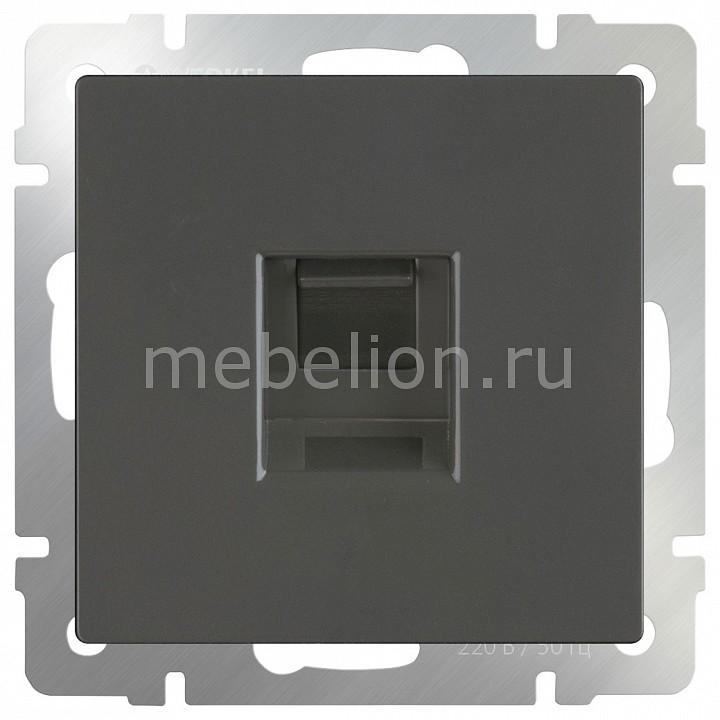 Розетка двойная Ethernet RJ-45 без рамки Werkel Серо-коричневый WL07-RJ45+RJ45 network rj45