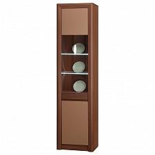 Шкаф-витрина Камелия-5 ясень шимо темный/капучино
