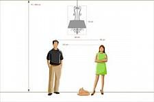 Подвесной светильник Chiaro 254015605 Версаче 2