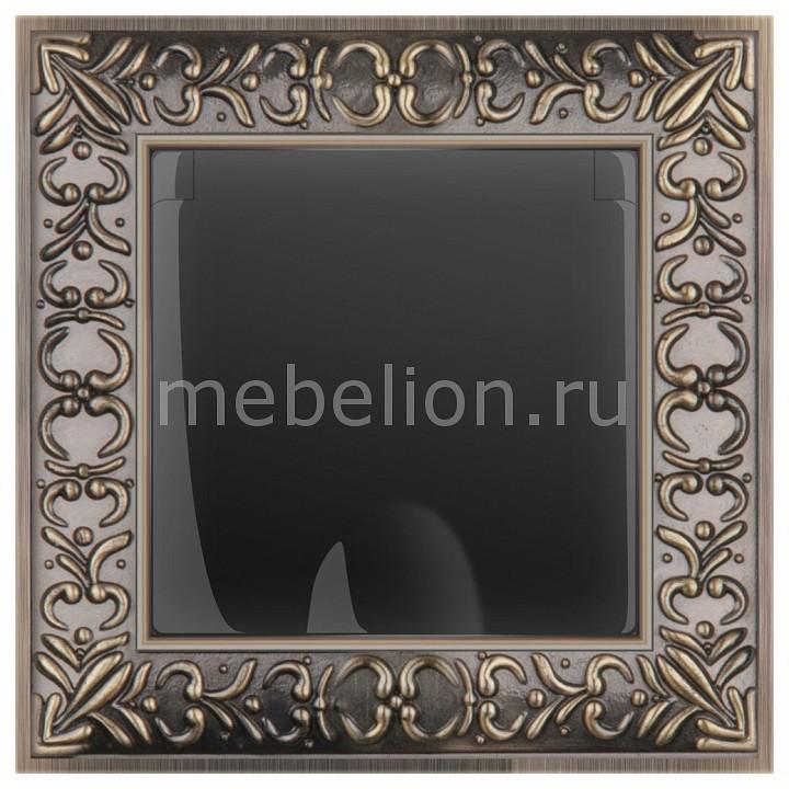 Розетка влагозащищенна с заземлением с крышкой со шторками Werkel Antik (Черный матовый) WL08-SKGS-USBx2-IP20+WL08-SKGSC-01-IP44 розетка abb bjb basic 55 шато 2 разъема с заземлением моноблок цвет чёрный
