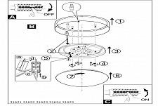 Накладной светильник Eglo 31624 Maserlo