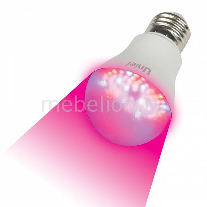 Лампа светодиодная Uniel LED-A60 E27 175-250В 9Вт фиолетовый LED-A60-9W/SP/E27/CL ALM01WH картон
