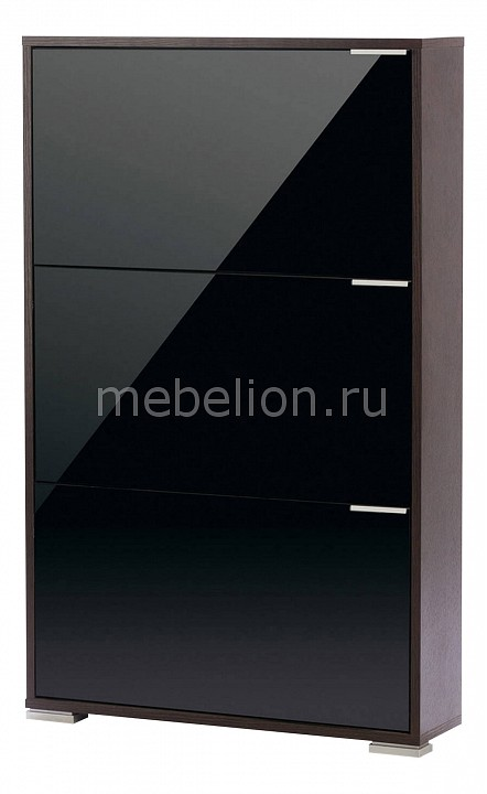 Обувница VIVA 3 черный стеклянный mebelion.ru 4690.000