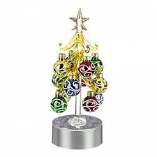 Ель световая с елочными игрушками (20 см) ART 594-043