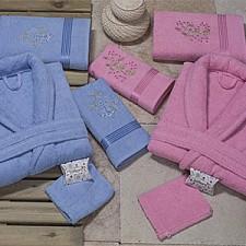 Набор из 2 халатов унисекс с полотенцами BIOFLORES