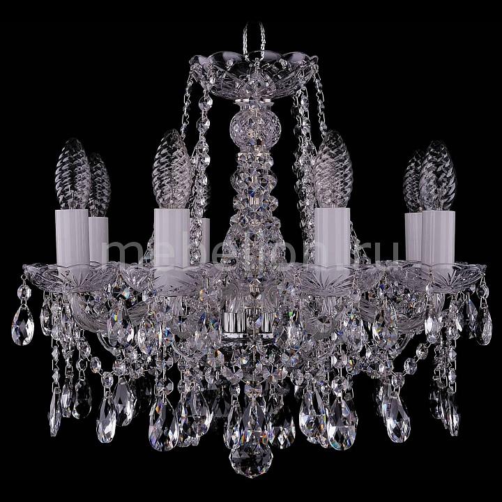 Подвесная люстра Bohemia Ivele Crystal 1413/8/141/Ni 1413