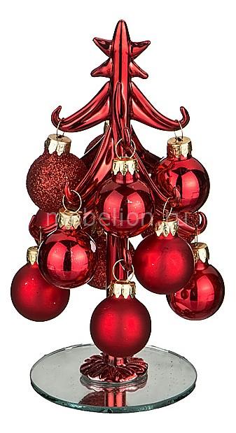 Ель новогодняя с елочными шарами (15 см) ART 594-109