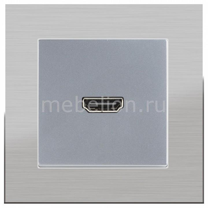 Розетка HDMI Werkel без рамки Aluminium(Серебряный) WL06-04-01+WL06-60-11