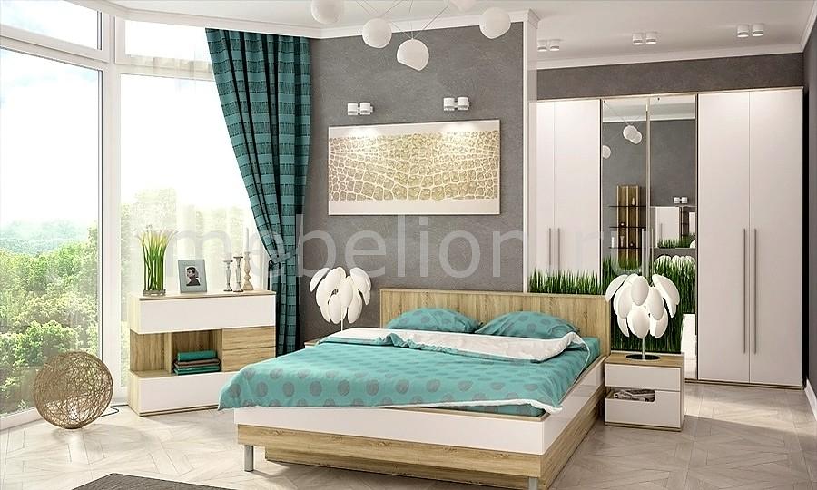 Гарнитур для спальни Ирма 9 дуб сонома/белый глянец mebelion.ru 38870.000