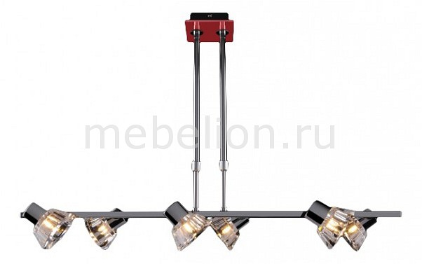 Светильник на штанге Eurosvet 25333/6 хром/красный 25333