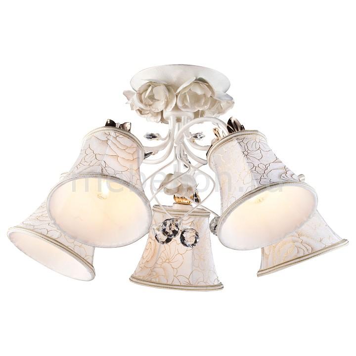 Люстра на штанге Bellis A2819PL-5WG Arte Lamp Артикул - AR_A2819PL-5WG, Бренд - Arte Lamp (Италия), Серия - Bellis, Гарантия, месяцы - 24, Рекомендуемые помещения - Гостиная, Кабинет, Спальня, Высота, мм - 290, Диаметр, мм - 600, Цвет плафонов и подвесок - белый с рисунком, неокрашенный, Цвет арматуры - белый, золото, Тип поверхности плафонов и подвесок - матовый, прозрачный, Тип поверхности арматуры - матовый, Материал плафонов и подвесок - текстиль, хрусталь, Материал арматуры - металл, Лампы - компактная люминесцентная [КЛЛ] ИЛИнакаливания ИЛИсветодиодная [LED], цоколь E14; 220 В; 60 Вт, , Класс электробезопасности - I, Общая мощность, Вт - 300, Лампы в комплекте - отсутствуют, Общее кол-во ламп - 5, Количество плафонов - 5, Возможность подключения диммера - можно, если установить лампу накаливания, Степень пылевлагозащиты, IP - 20, Диапазон рабочих температур - комнатная температура