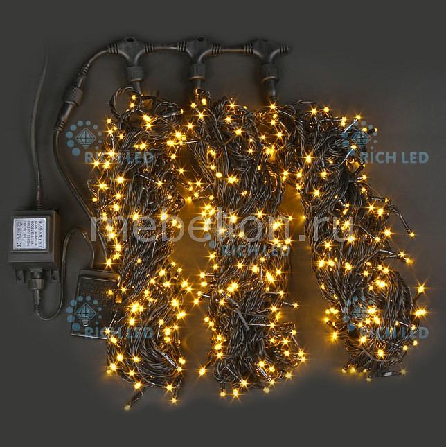 Гирлянда на деревья RichLED (3х20 м) RL-T3*20N2-B/Y гирлянда электрическая lunten ranta сосулька 20 светодиодов длина 2 85 м