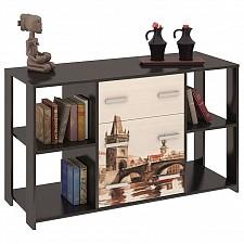 Тумба комбинированная Мебель Трия Тип 6 венге цаво/дуб молочный с рисунком