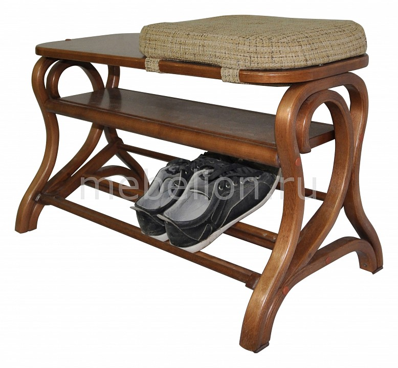 Банкетка-стеллаж для обуви Мебелик Диана обувница мебелик диана темно коричневый ткань с 41841