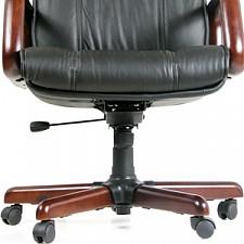 Кресло для руководителя Chairman 419 черный/орех темный, черный