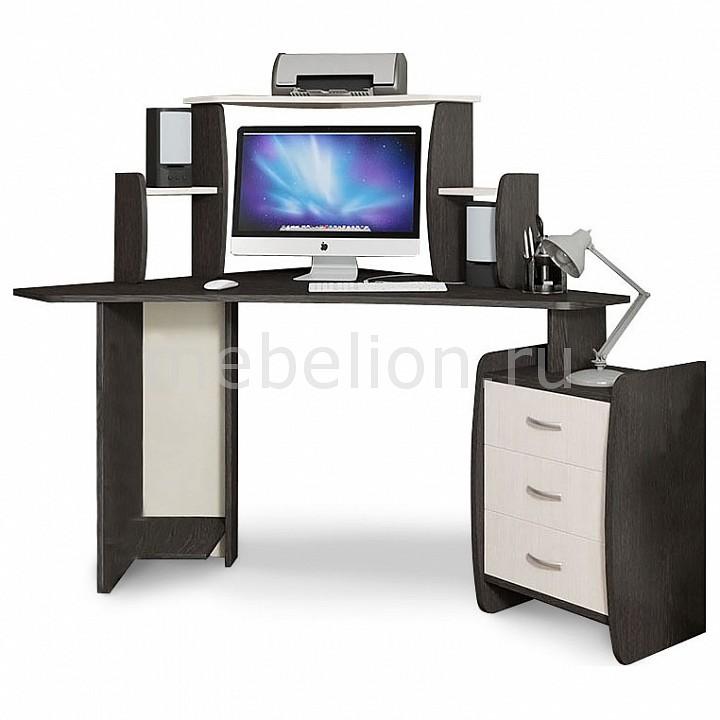 Стол компьютерный Мебель Трия угловой Сэн Сэй-2 (М) венге цаво/дуб молочный стол компьютерный мебель трия профи м венге цаво дуб молочный с рисунком