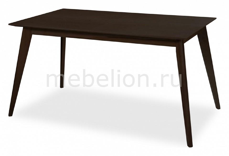 Стол обеденный Ресторация Лунд раздвижной большой стеклянный обеденный стол кубика нагано 2 стекло стекло темно коричневое венге